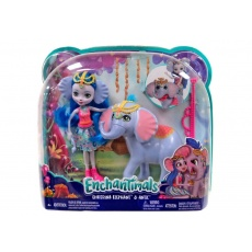 Enchantimals™ Lalka Ekaterina Elephant + słoń Antic Mattel FKY72 FKY73