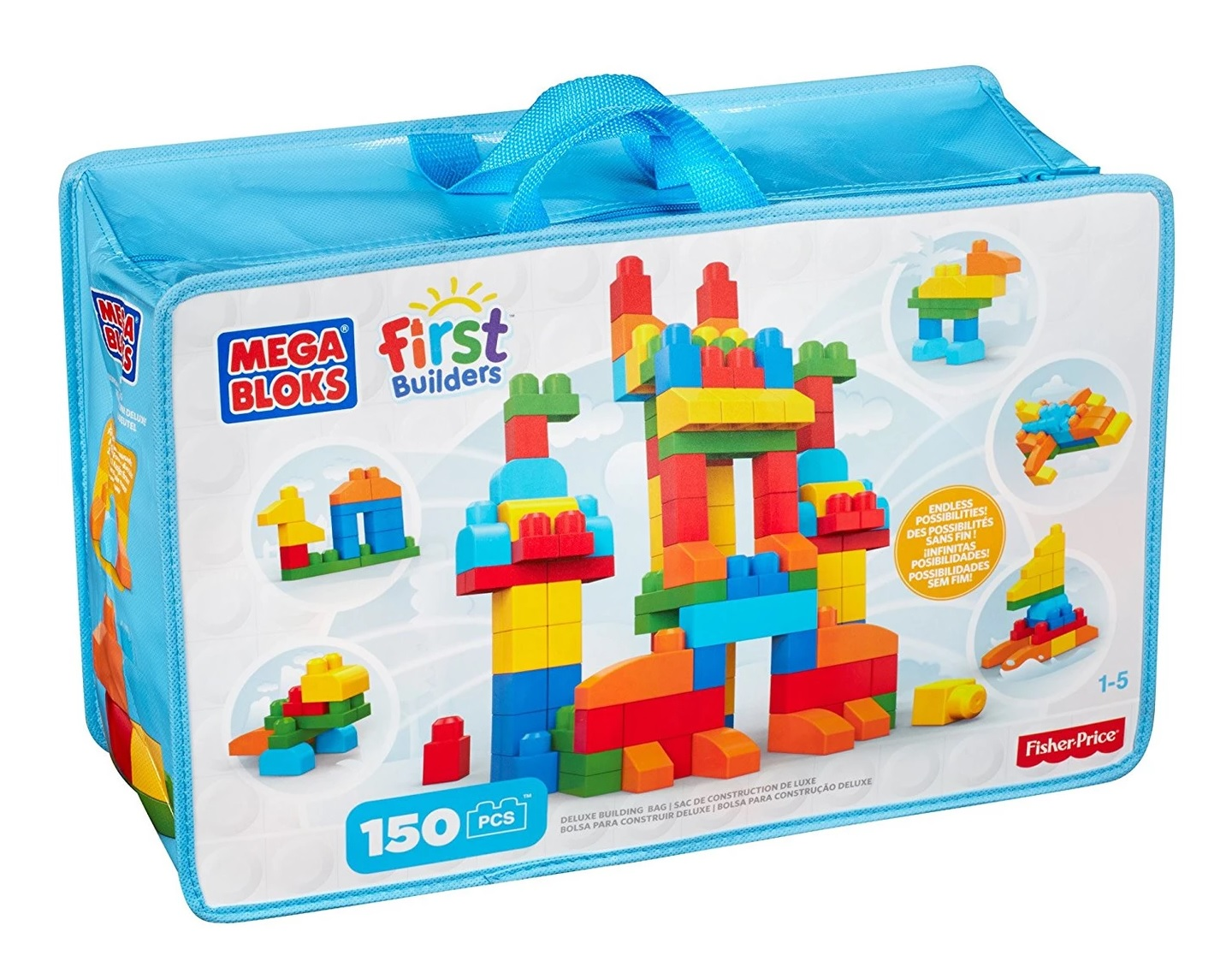 Mega Bloks® First Builders™ Klocki Deluxe 150 el. Mattel CNM43 Fisher Price®