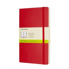 Moleskine Classic Notebook Notes gładki soft red L, MOQP618F2 notesy