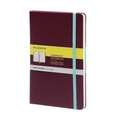 Moleskine Contrast Notebook Notes w linie hard plum purple L, MOLCCTQP060H8