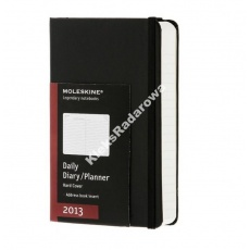 Moleskine kalendarz 2013 daily hard black large