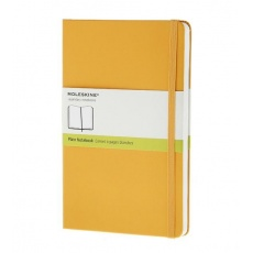 Moleskine Notebook notes gładki large hard orange yellow