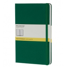 Moleskine Notebook notes w kratkę large hard oxide green