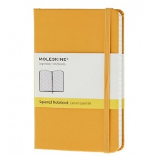 Moleskine Notebook notes w kratkę pocket hard orange yellow