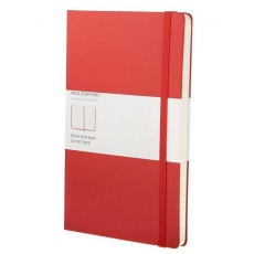 Moleskine Notes w linie notebook large red hard