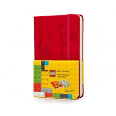 Moleskine Notes w linie Limited Edition Lego notebook ruled pocket scarled red hard