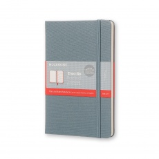 Moleskine Two-Go Notebook Notes gładki/linie saxe blue M, MOTWOGO31B26