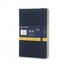 Moleskine Two-Go Notebook Notes gładki/linie oriental blue M, MOTWOGO31B27