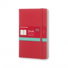 Moleskine Two-Go Notebook Notes gładki/linie raspberry red M, MOTWOGO31F18