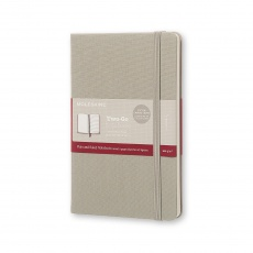 Moleskine Two-Go Notebook Notes gładki/linie ash grey M, MOTWOGO31G14