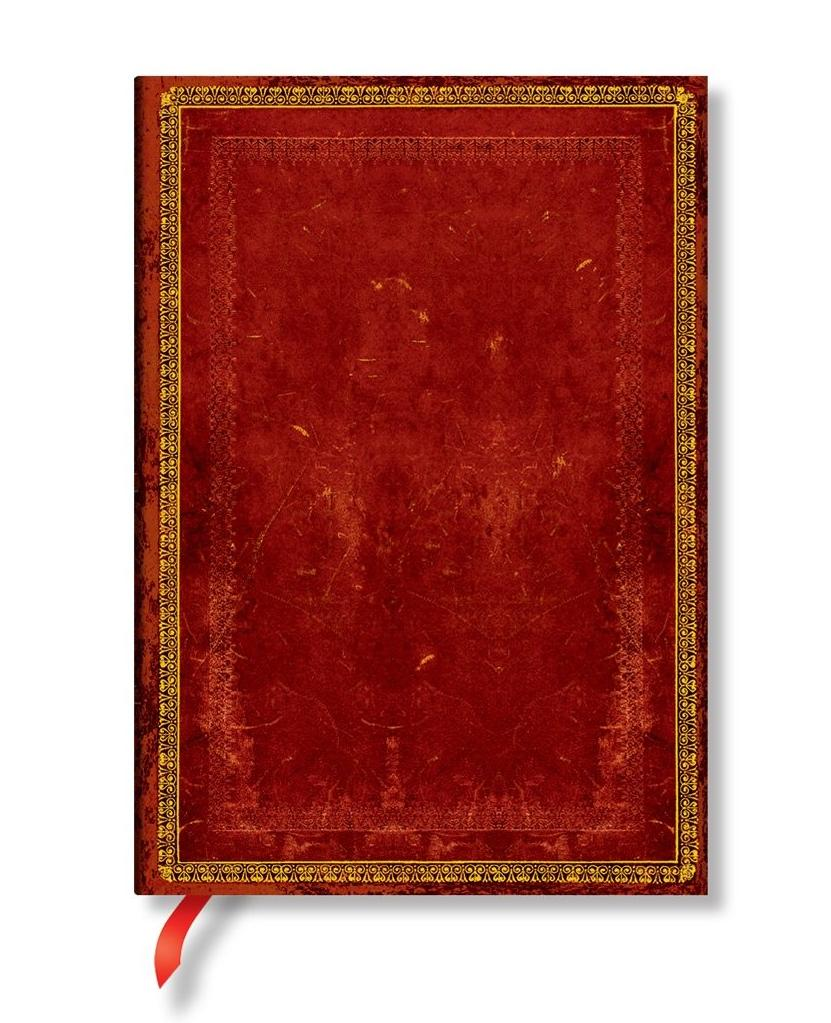 Paperblanks® Old Leather Classics Notes w linie Venetian Red Midi
