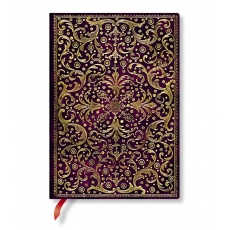 Paperblanks Aurelia Royal Purple Notes w linie midi, notesy