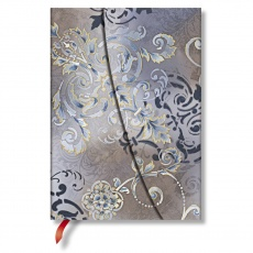 Paperblanks® Belle Epoque Gossamer Grey Notes w linie midi