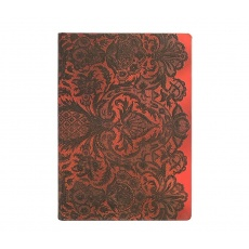 Paperblanks® Lace Allure Rouge Boudoir Notes gładki midi