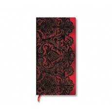 Paperblanks® Lace Allure Rouge Boudoir Notes w linie slim