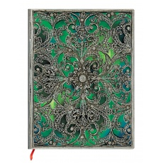 Paperblanks® Silver Filigree Esmeralda Notes gładki ultra