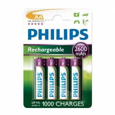 Philips bateria akumulator 1,2V Rechargeable MultiLife Mignon HR6 AA 2600 mAh, baterie