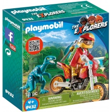 Playmobil® The Explorers 9431 Rower motocrossowy z raptorem