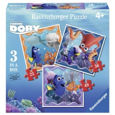 Puzzle Gdzie jest Dory? 3w1 (25, 36, 49 el.), Ravensburger 068845 Finding Dory