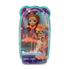 Enchantimals™ Lalka Cherish Cheetah z gepardem Quick-Quick Mattel FNH22 FJJ20