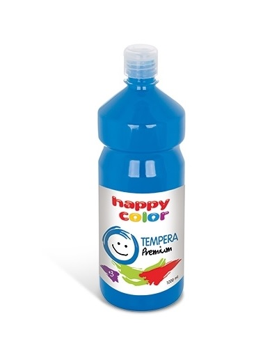 Farba tempera plakatowa błękitna 1000 ml Premium nr 30 Happy Color HA 3310 1000-30