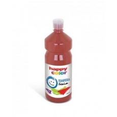 Farba tempera plakatowa ciemnobrązowa 1000 ml Premium nr 75 Happy Color HA 3310 1000-75