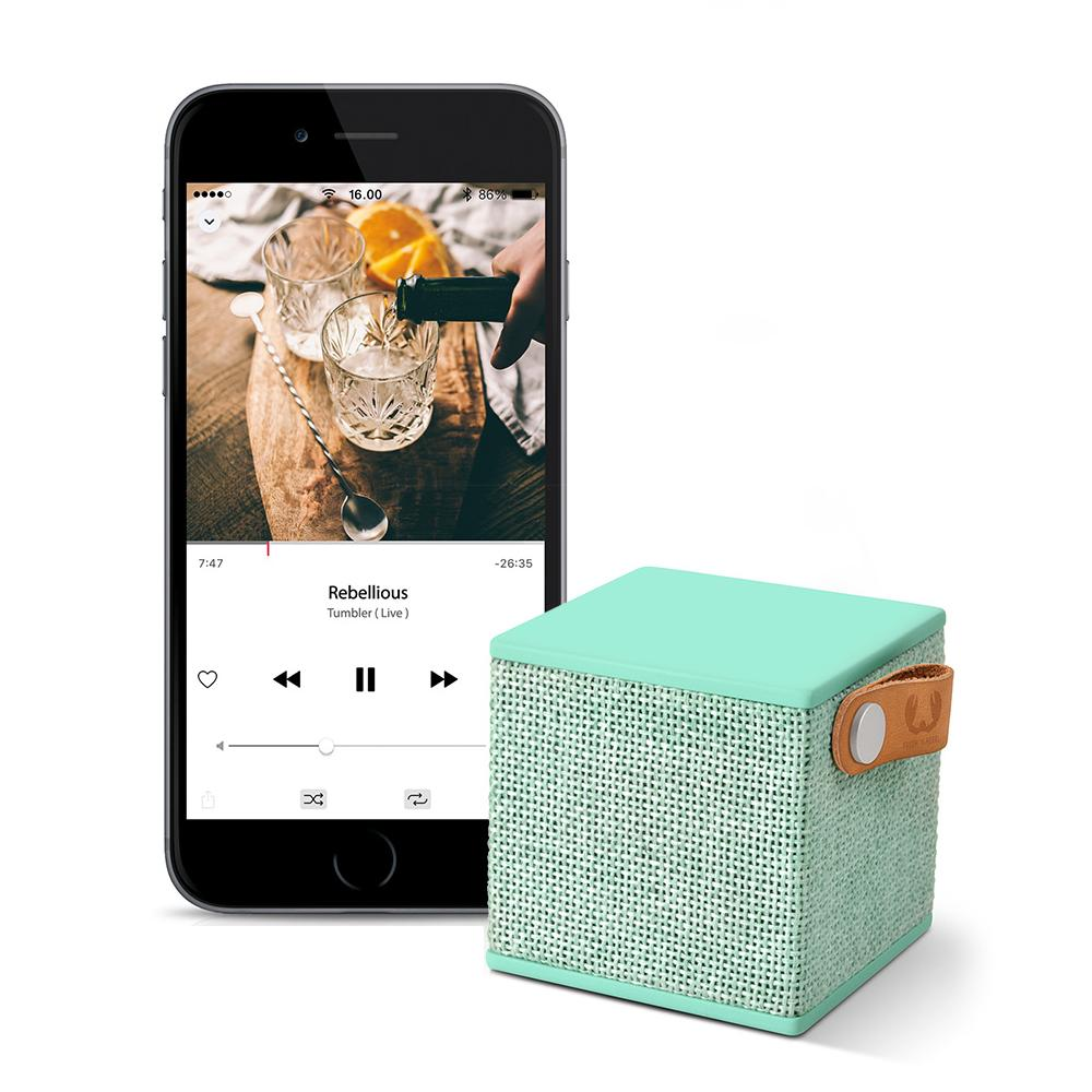 Głośnik Bluetooth Fresh \'n Rebel Rockbox Cube Fabriq Peppermint Hama 156793