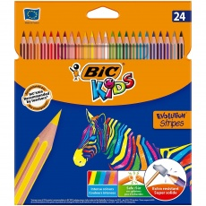 Kredki Evolution Stripes 24 kolory BiC® Kids 950525 99133