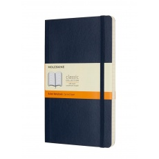 Moleskine Classic Notebook Notes w linie soft szafirowy L, MOQP616B20