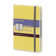 Moleskine Contrast Notebook Notes w linie hard citron yellow S, MOLCCTMM710M12