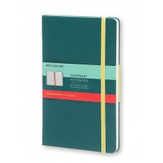 Moleskine Contrast Notebook Notes w linie hard seaweed green L, MOLCCTQP060K11