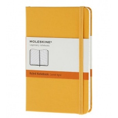 Moleskine Notebook notes w linie pocket hard orange yellow