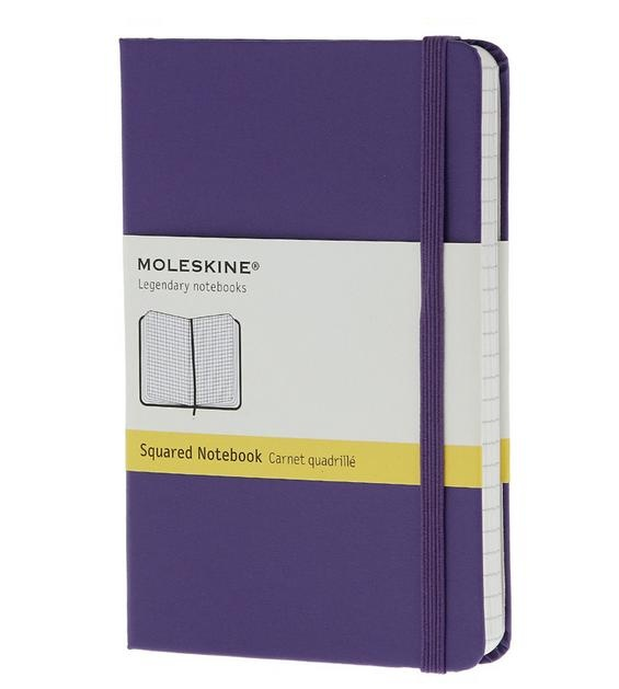 Moleskine Notebook notes w kratkę pocket hard brilliant violet