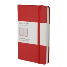 Moleskine Notes w kratkę notebook pocket red hard MMM712R
