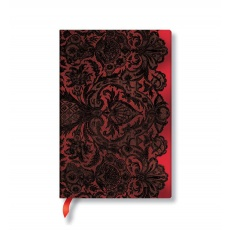 Paperblanks® Lace Allure Notes w linie Rouge Boudoir Mini