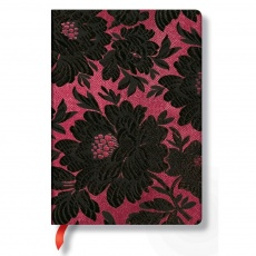 Paperblanks® Chic & Satin Black Dahlia Notes w linie midi