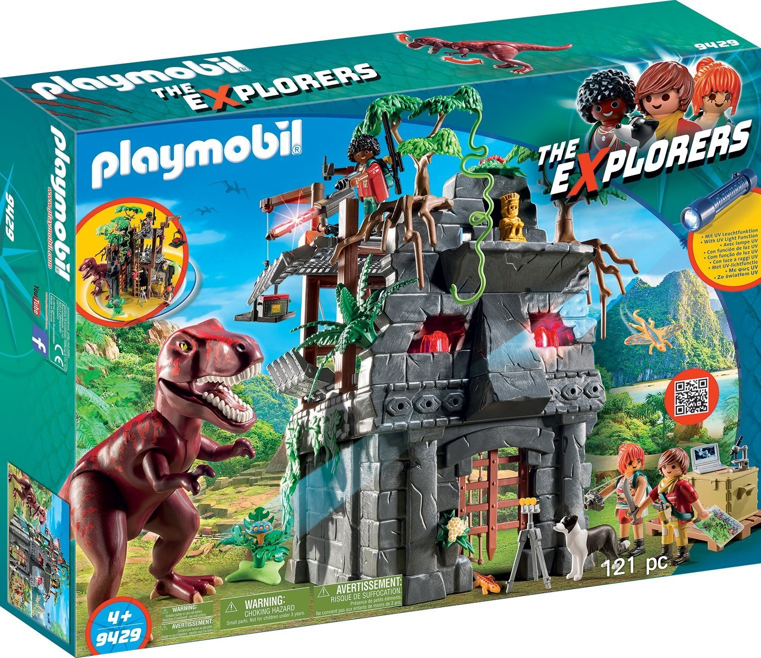 Playmobil® The Explorers 9429 Obozowisko z T-Rexem