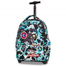 Plecak na kółkach CoolPack Junior Badges Camo Blue Patio 24190CP A28113