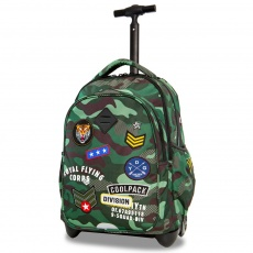 Plecak na kółkach CoolPack Junior Badges Camo Green Patio 23742CP A28110