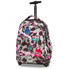 Plecak na kółkach CoolPack Junior Badges Camo Pink Patio 24046CP A28112