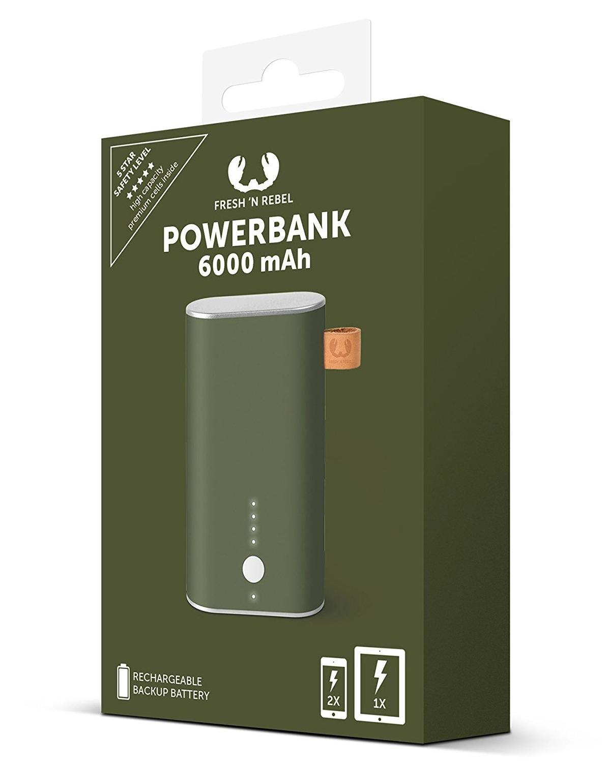 Powerbank Fresh n\' Rebel 6000 mAh Army zielony Hama 171096