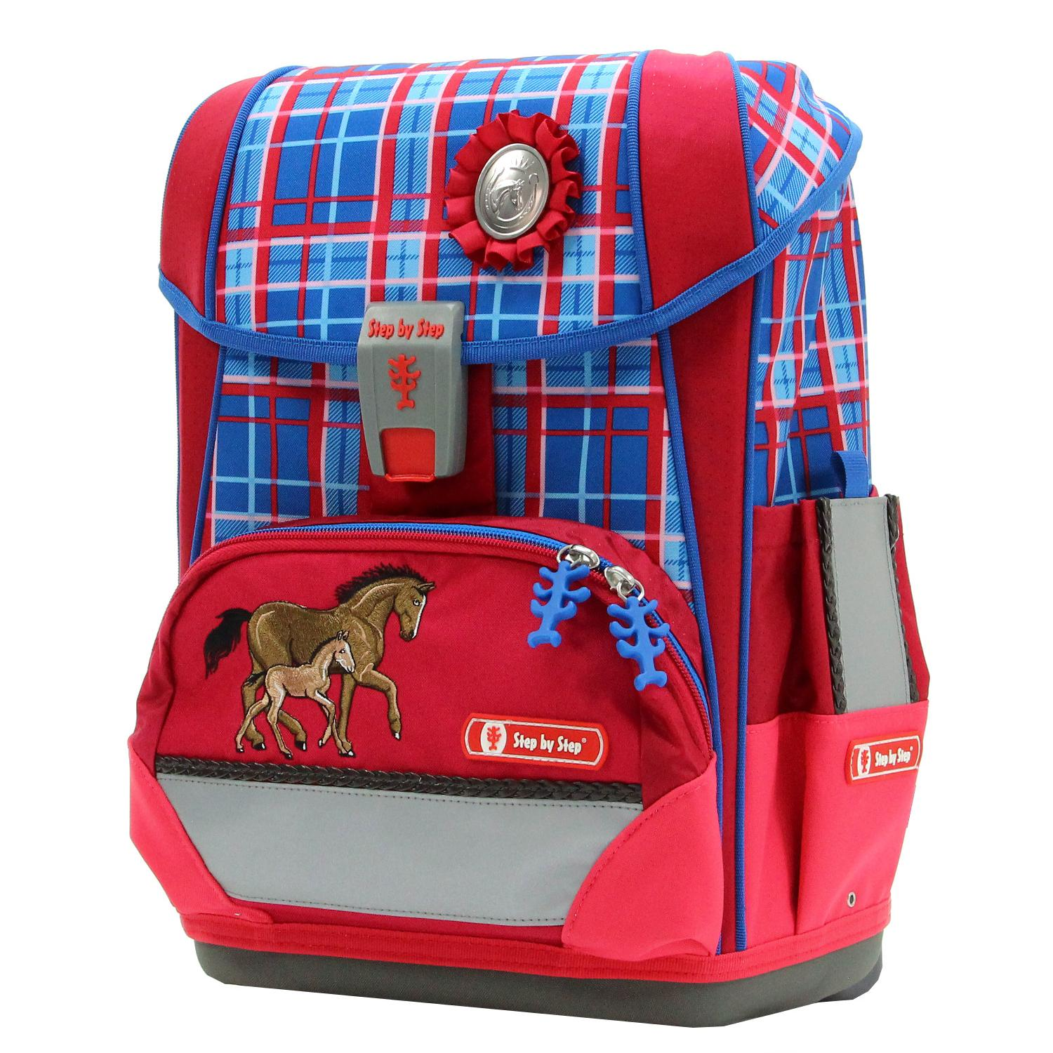 0f43cf0038b01 Tornister Step By Step Light II Set 4 cz. Horse Family Hama 138504 ...